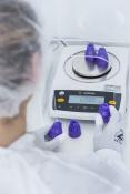 Ermittlung des Referenzgewichtes mit Laborwaage